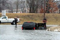 Leominster Ma - Flooded  Parking Lot - March 14 2010