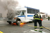 Leominster Ma - Bus Fire - November 27 2012